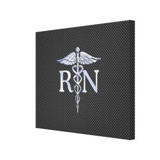 公認看護師RNのケリュケイオンはカーボンを蛇行させます キャンバスプリント