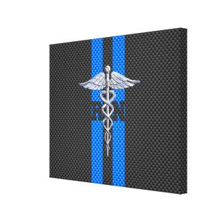 公認看護師RNのケリュケイオンカーボン繊維の装飾 キャンバスプリント