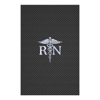 公認看護師RNの銀製のケリュケイオンのヘビ 便箋