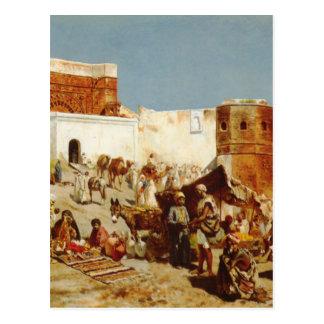 公開市場、エドウィンの主Weeksによるモロッコ ポストカード