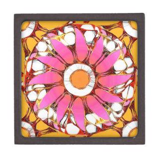 六十年代のモダンな花の曼荼羅 ギフトボックス