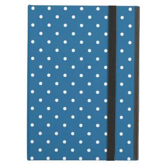 六十年代は青い水玉模様のiPadの空気箱のスタイルを作ります iPad Airケース
