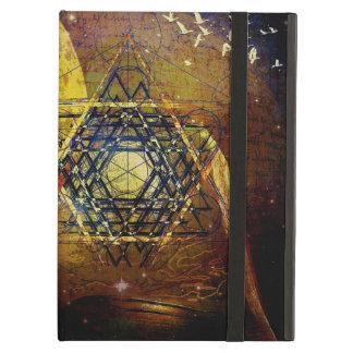 六芒星の神聖な幾何学の記号 iPad AIRケース