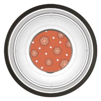 六角形によって燃やされるオレンジアクリルのペットボウル ペット用食器
