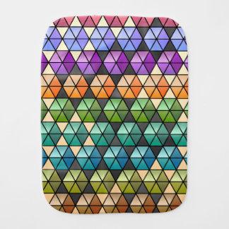 六角形のキルト-暖かい虹 バープクロス