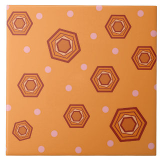 六角形のシャーベットのオレンジセラミックタイル タイル