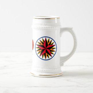 六角形のシンボルや象徴-ペンシルバニア・ダッチ1 -クラシックなStien ビールジョッキ