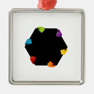 六角形のデザインの要素 メタルオーナメント