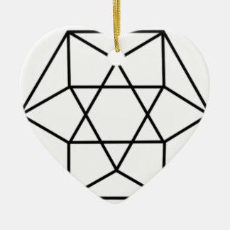 六角形の宝石4 セラミックオーナメント