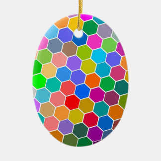 六角形の小石 セラミックオーナメント