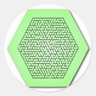 六角形の当惑 ラウンドシール