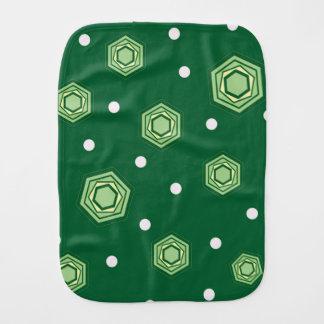 六角形の緑のベビー用バーブクロス バーブクロス