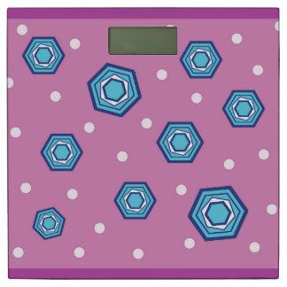 六角形の蘭の重量のスケール 体重計