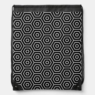 六角形は幾何学的なパターンを織ります ナップサック