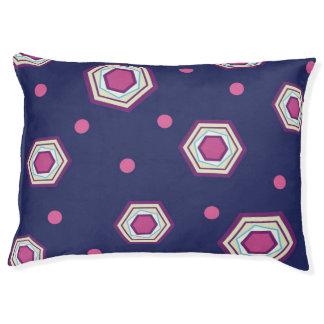 六角形青い犬のベッド ペットベッド