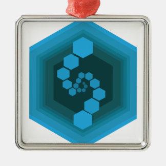 六角形 メタルオーナメント