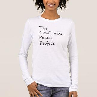 共同作成の平和プロジェクト 長袖Tシャツ