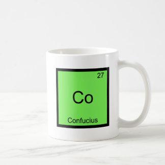 共同孔子おもしろいな化学要素の記号のティー コーヒーマグカップ