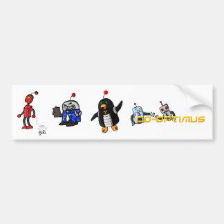 共同Optimusキャラクターのバンパーステッカー バンパーステッカー