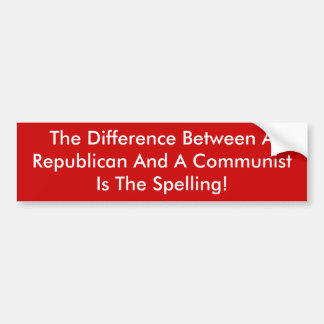 共和党と共産主義者の違い バンパーステッカー