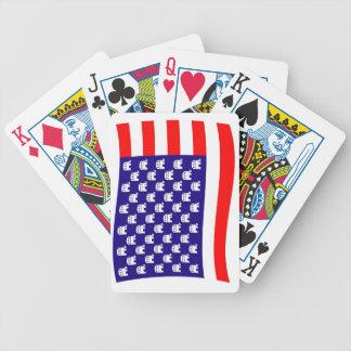 共和党の星条旗の旗 バイスクルトランプ