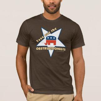 共和党の議事進行妨害者を投げ出して下さい Tシャツ