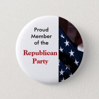 共和党ボタン 5.7CM 丸型バッジ