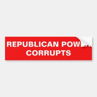 共和党力は買収します バンパーステッカー