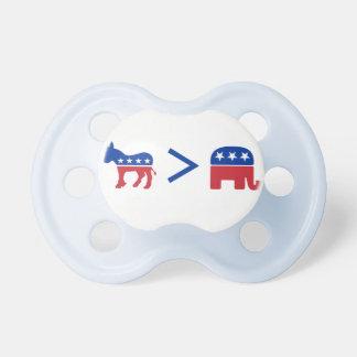 共和党員の乳児の調停者より素晴らしい民主党員 おしゃぶり