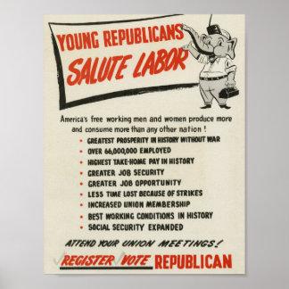 共和党員の挨拶の労働 ポスター