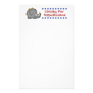 共和党員の文房具のためのひよこ 便箋