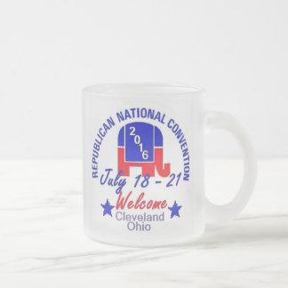 共和党員の2016年の大会のマグ フロストグラスマグカップ