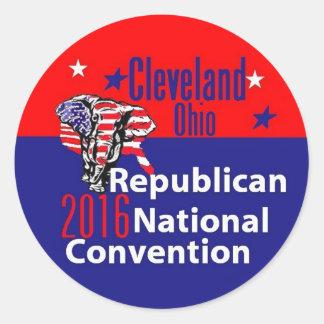 共和党員の2016年の大会 ラウンドシール