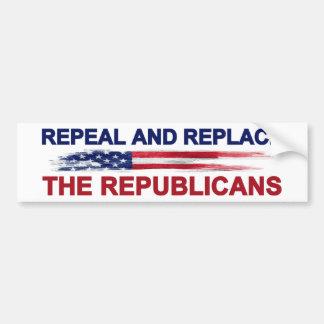 共和党員を廃止し、取り替えて下さい バンパーステッカー