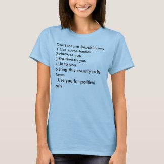 共和党員を許可しないで下さい: 1.Use恐怖の作戦2… Tシャツ