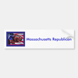 共和党員、マサチューセッツ共和党員 バンパーステッカー