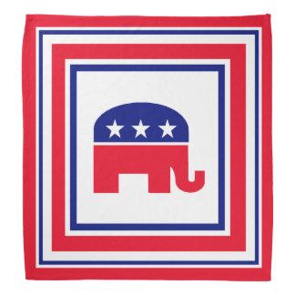 共和党象の赤い白くおよび青 バンダナ