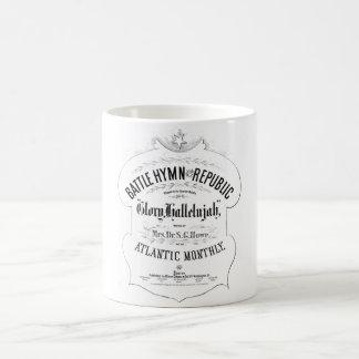 共和国音楽カバーシートの戦いの賛美歌 コーヒーマグカップ