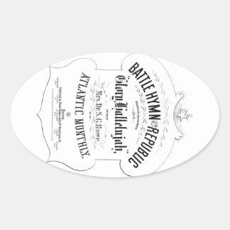共和国音楽カバーシートの戦いの賛美歌 楕円形シール