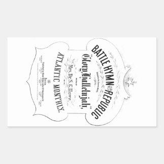 共和国音楽カバーシートの戦いの賛美歌 長方形シール