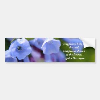 共有される幸福は花です バンパーステッカー