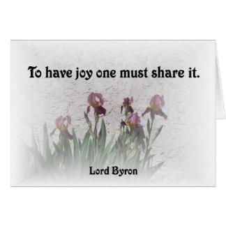 共有の喜び カード