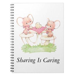 共有は春の夏のネズミを気にしています ノートブック