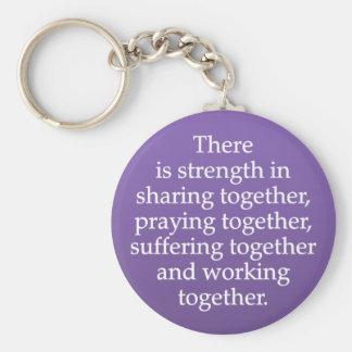 共有、祈ること、および協力 キーホルダー