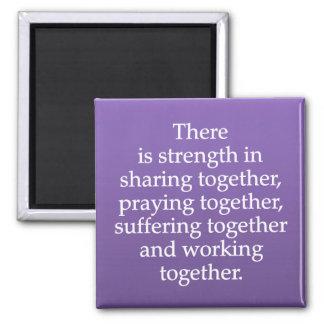 共有、祈ること、および協力 マグネット