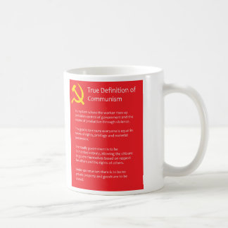 共産主義の本当定義325のmlの白のマグ コーヒーマグカップ