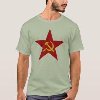 共産主義の赤い星の(ハンマー及び鎌) Tシャツ
