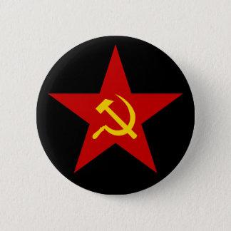 共産主義の赤い星(ハンマー及び鎌)ボタン 5.7CM 丸型バッジ
