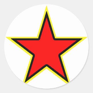 共産主義の赤い星 ラウンドシール