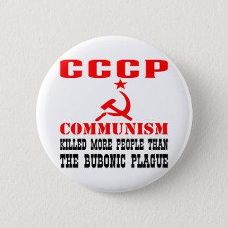 共産主義は鼠径腺ペストよりより多くの人々を殺しました 5.7CM 丸型バッジ